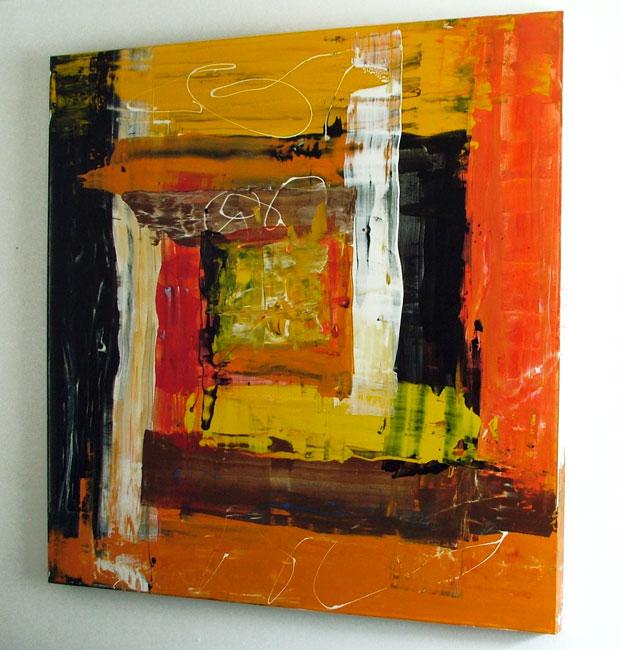 Abstract Canvas Art Acrylic Painting By Seb Farrington