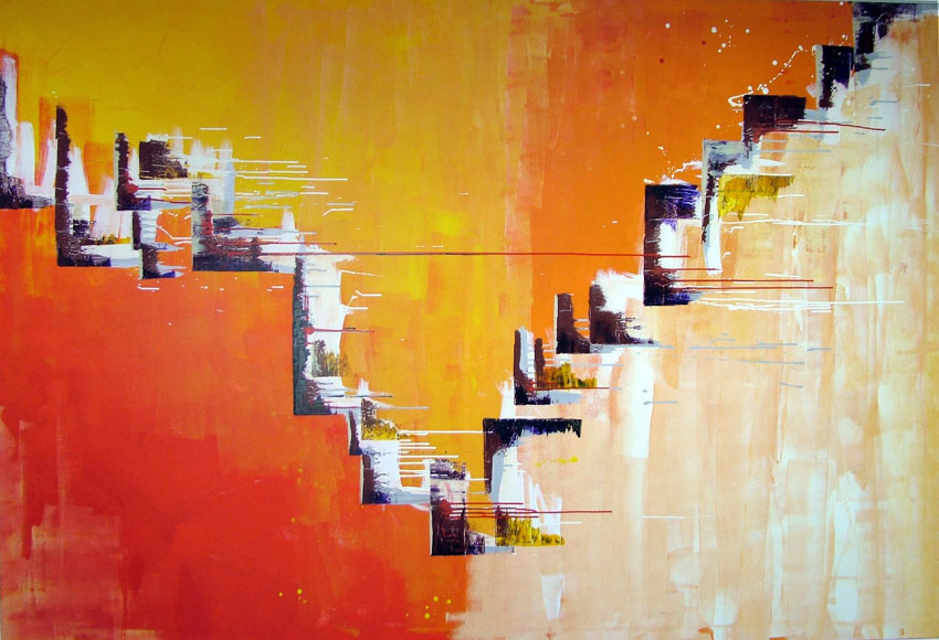 Abstract Large Painting on Canvas