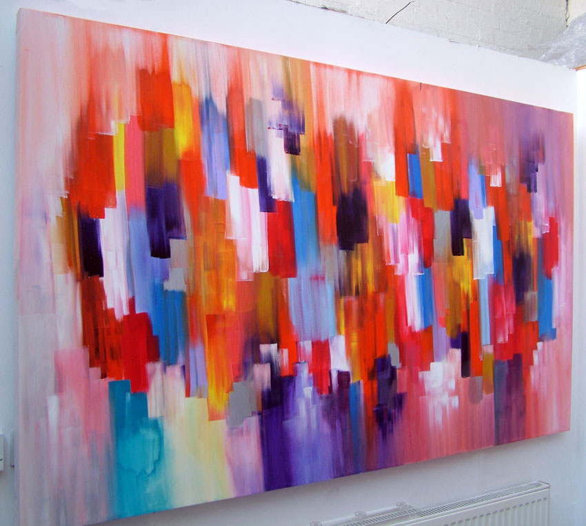 Abstract canvas acrylic painting by seb farrington for Diy abstract acrylic painting