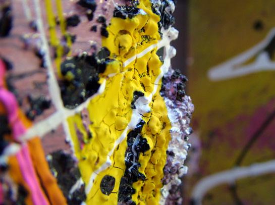 Modern Art Drip Painting Venus Isle by Seb Farrington